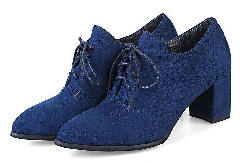 Talon Richelieus Pointu Bloc Femme Bout Easemax Bleu Classique Y4nwEx77S