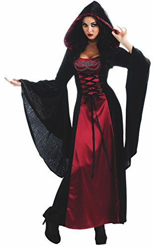 Gothic Vampire Dress (Gothic Enchantress Costume, Black, Standard)