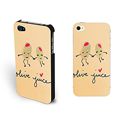 Custom Design Love Couple Drawing Iphone 4 Case Cover Monogrammed