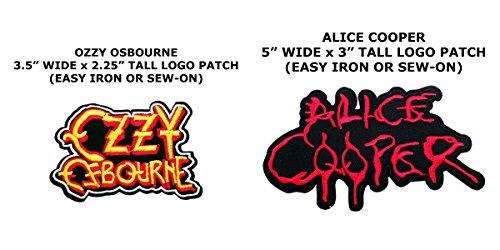Diy Retro Alien Costume (2 PCS Ozzy Ozbourne & Alice Cooper Music Theme DIY Iron / Sew-on Decorative Applique Patches)