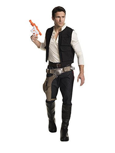 Rubie's Men's Classic Star Wars Grand Heritage Han Solo Costume, Multi, Standard -