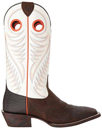 Ariat Mens Circuit Stomper Western Cowboylaars, Timberwolf Suede, 8 D Us Rough Chocolate