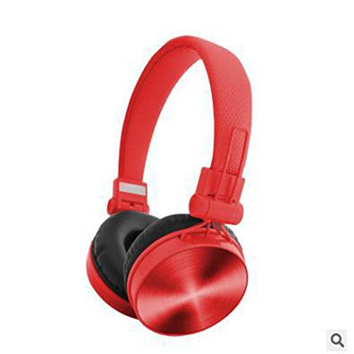 XHKCYOEJ Headset Stereo Headset/Games/Headphones/Mobile/Computer/Tablet/Headset/Stereo/Subwoofer/Headphones/With Wheat, Red: Amazon.co.uk: Electronics