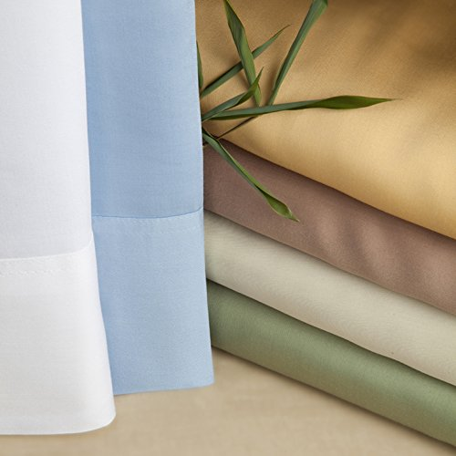 Luxurious Bamboo Viscose Sheet Set - Sage - Gingko Green - Twin XL - Perfect for College Dorm Bedding! by Silken Wool Bamboo Linen (Image #2)