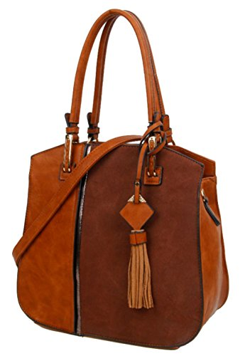Marrón Mujer Handbags Girly Sintético De Material Asas Bolso Para P6nq0w8