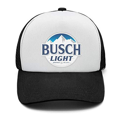 Men's Classic Strapback Hat Busch-Light-Beer-Sign- Adjustable Sun Cap