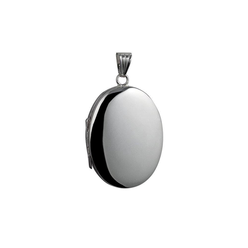 Medaillon oval mit Verriegelung und einfache 35 x 26 mm echt Silber für 4 Fotos Familie British Jewellery Workshops FLFL49S00