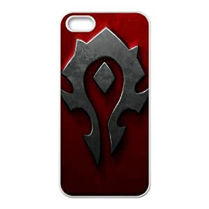 World Of Warcraft logo iPhone 5 5s Cell Phone Case White Cover protective Skin Shield PJZ003-2300276