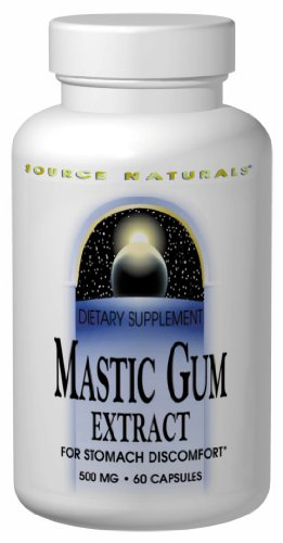 Source Naturals Mastic Gum Extract 500mg, 60 Capsules (Pack of 2)