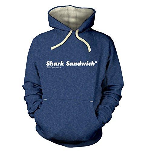 "Shark Sandwich Hoodie (premium) - Heather Royal XX Large (51"" Chest)"