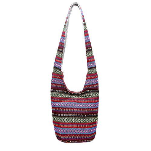 Crossbody Purse Hobo Canvas Women's Bag Style Hobo Bags Fanspack Bags Handbags Multicolor Casual National Shoulder zRqU1