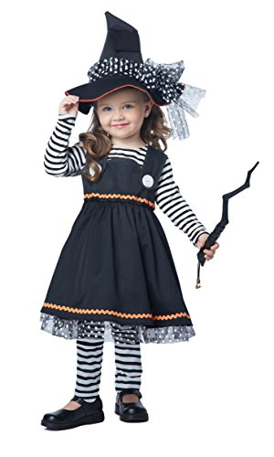 [California Costumes Crafty Little Witch Toddler Costume, Size 3-4] (Halloween Witch Costumes Kids)