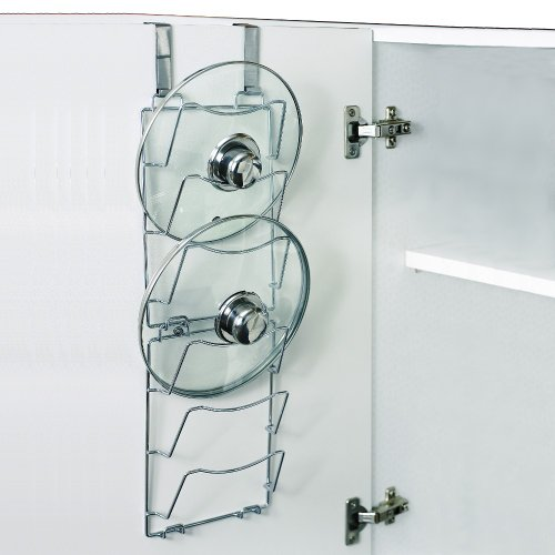 Set Of 2 Over The Door Pan Lid Storage Racks Amazoncouk Kitchen