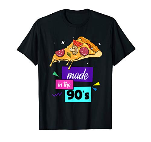 Vintage Pizza Made In The 90's Classic Fast Food Retro ()