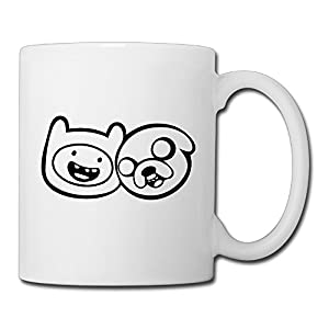 Christina With Finn And Jake Logo Ceramic Coffee Mug Tea Cup White