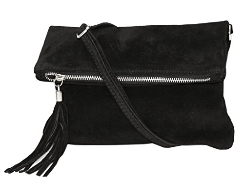 Zarolo Clutch,Borse a spalla (28/19/4 cm) in pelle Mod. 2059 by Fashion-Formel Wl-nero