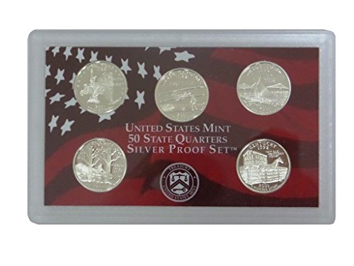 2001 S Washington State Quarters Silver 5-Coin Proof Set No Box Set Uncirculated