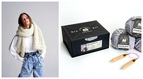 Loopy Mango DIY Box Kit - Winter Scarf (Bordeaux) by Loopy Mango
