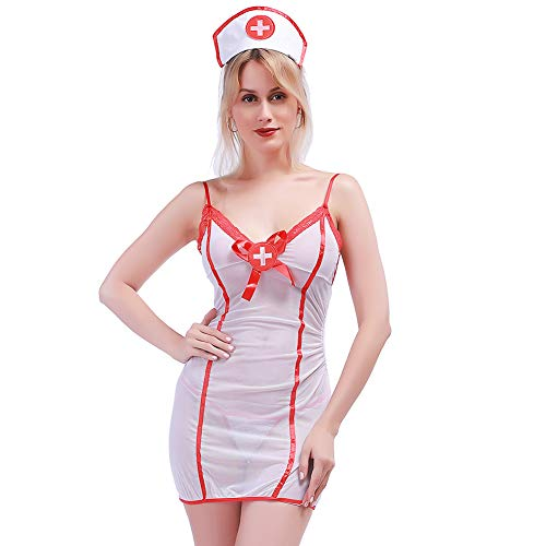 Lingso Lingerie Outfits Nurse Uniforme Girl Costume Women Hot Bodystockings Nightie for Wife Gift -