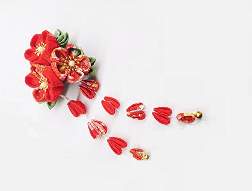 Japanese Tsumami Hair Pin Decor Kanzashi Hair Sticks Picks Fit For Kimono Hanfu accessories Long by SmilePunk