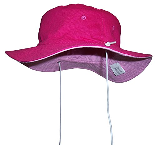 - N'Ice Caps Unisex Kids Reversible And Adjustable Cotton Twill Aussie Hat (50cm (19.7