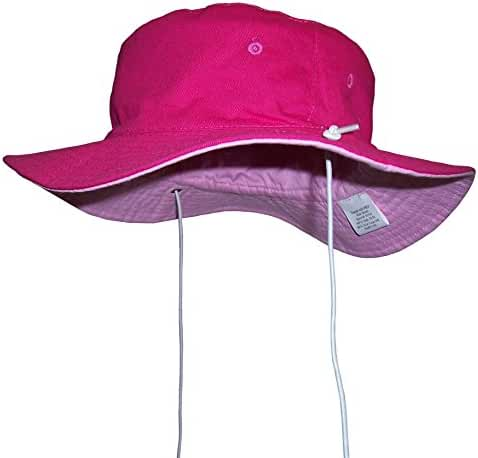 N'Ice Caps Kids Reversible Adjustable Cotton Twill Aussie Sun Protection Hat