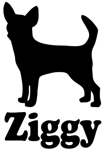 hihuahua Dog Vinyl Decal Sticker with Custom Personalized Name 5.5