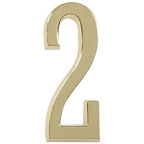 b7d0d259083b Amazon.com: Hillman Distinctions 4 Brass Address Plaque Number - 2 by  Hillman: Home Improvement