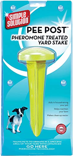 Simple Solution Pee Post Pheromone Treated Yard Stake for Dogs, 6 Pack