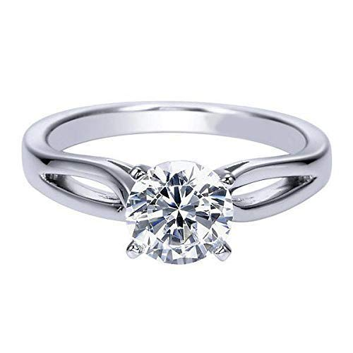 1.45 CT EGL Certified, Natural Round Diamond with 950 PLATINUM, classic 4-prong solitair Engagment Ring, promise Birdal wedding ring - Ct Round Diamond 1.45