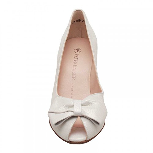 Peter Kaiser Stila Ladies Peep Toe Shoes In White Star White BK9GVGsrw