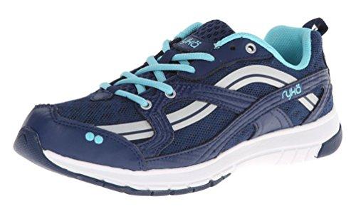 Ryka Women's Stance SMT Jet Ink Blue/Chrome Silver/Winter Blue Sneaker 9.5 B (M)