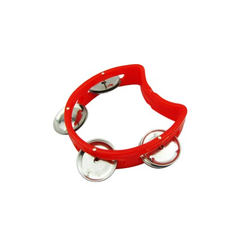 Musiclily Small Tambourine Half Blossom with 4 Jingles, Random Color(Pack of (Custom Tambourines)