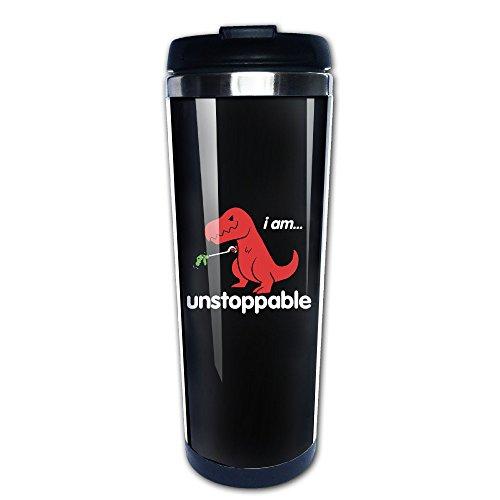 I Am Unstoppable T-Rex Funny Dinosaur Travel Coffee Mug Water Bottle ()