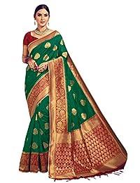 Elina fashion Sarees for Women Banarasi Art Silk Woven Saree l Indian Ethnic Wedding Gift Sari with Unstitched Blouse