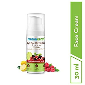 Mamaearth Bye Bye Blemishes Face Cream, For Pigmentation & Blemish Removal, With Mulberry Extract & Vitamin C – 30ml
