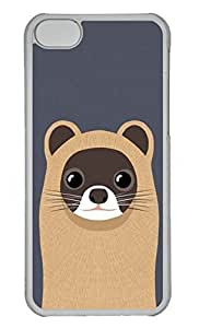 Customized iphone 5C PC Transparent Case - Cute 1 Cover