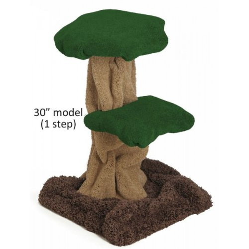 Mushroom Cat Tree Size 30 Inch Color Base Brown