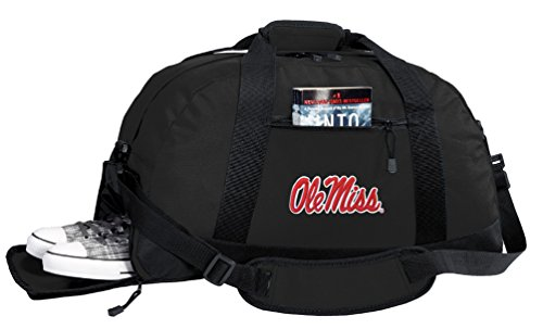 Broad Bay NCAA Ole Miss Duffel Bag - University of Mississippi Gym Bags w/SHOE (Ncaa Gym Bag)