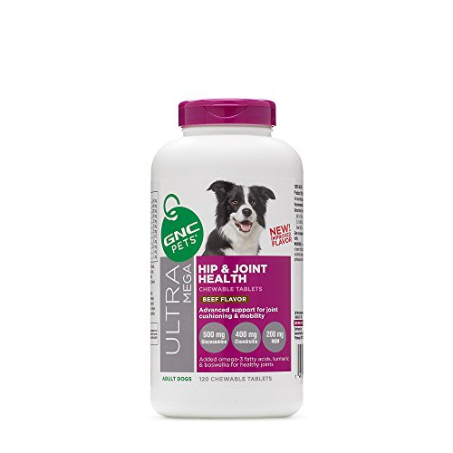 Pets Ultra Mega Hip & Joint Health for Adult Dogs 120- Savory Beef Flavor by GNC by GNC