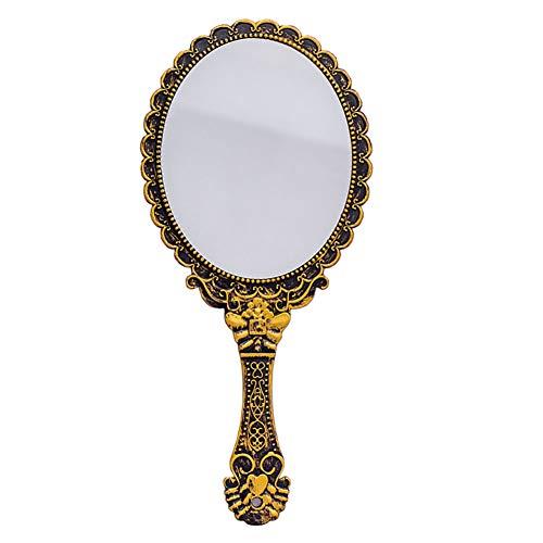 Handheld Vanity Makeup Mirror Decorative Vintage Cosmetic Mirror Hand Held Travel Mirrors