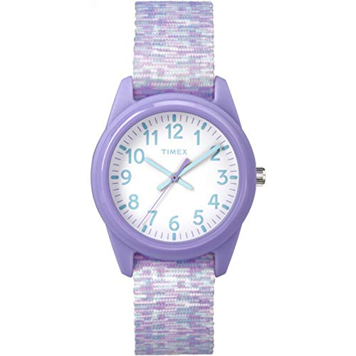 Timex Youth Kids Analog 32mm Nylon Strap |Purple| Watch TW7C12200