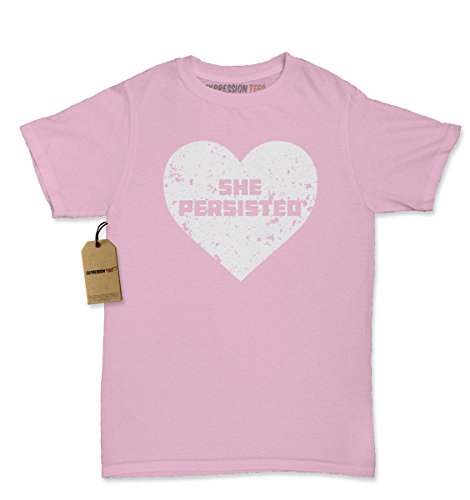 [Womens Heart She Persisted T-Shirt X-Large Light Pink] (Patriarchy Costume)