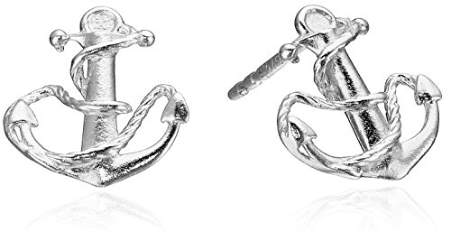 Alex and Ani Post Anchor Sterling Silver Stud Earrings