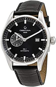 Certina DS 1 Small Second Genuine Black Leather Men's Automatic Watch