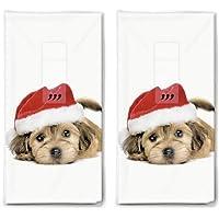 20 zakdoeken (2 x 10) zakdoeken Leuke kersthond als cadeau voor Kerstmis