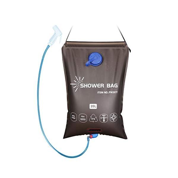 41EYpCD5IYL Qdreclod Campingdusche Solardusche Tasche, 20L Tragbare Solar Gartendusche Outdoor Warmwasser Dusche Reisedusche mit…