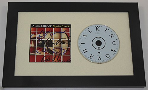 Talking Heads Popular Favorites Group Signed Autographed Cd Cover Compact Disc Custom Framed Display Loa