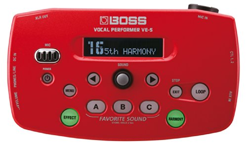 Boss VE-5 Vocal Performer Effect Processor (Red) by Boss