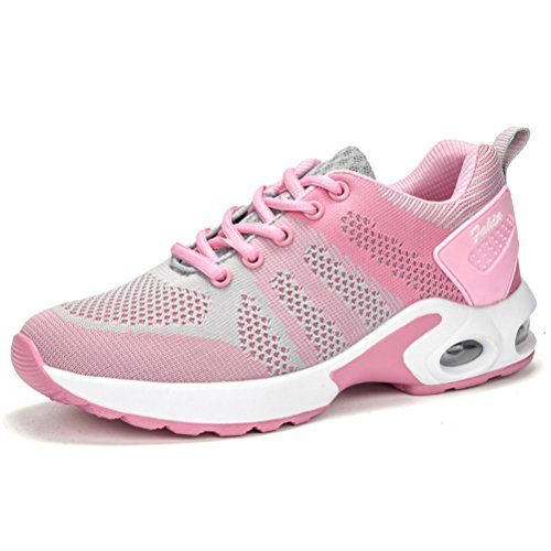 Grey Sale Walking Shoes (Women's Lightweight Comfortable Running Shoes Breathable Tennis Shoes Sports Shoes Casual Walking Sneakers(Air Cushion, Grey pink-39))